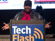 Sir Mix-A-Lot joins the Puget Sound Business Journal/TechFlash Flashies in 2011.