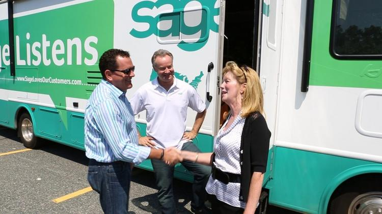 From left to right: Brad Smith, Joe Langner and Kathy Crewes Gorettis
