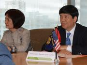 Ambassador Cuong withDr. Hoang Minh Ha on his right. She's his wife and also an environmental scientist.