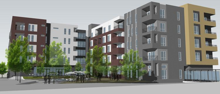 """Construction of the $16 million, 137-unit """"River Market West"""" market-rate apartment project is finally underway."""