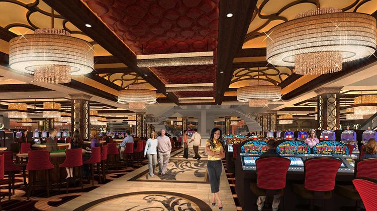 The Horseshoe Casino Baltimore is expected to take $24.8 million from annual lottery sales when it opens. Above, a rendering of the casino's gaming floor.