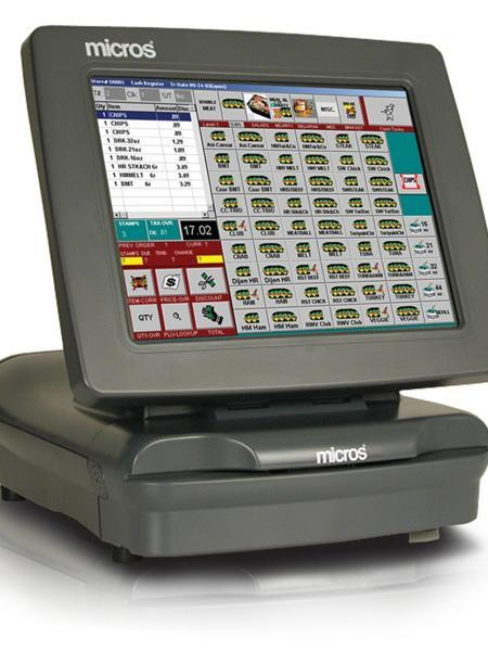 Above, a Micros cash register. The company is reportedly in talks to be acquired by Oracle for $5 billion.