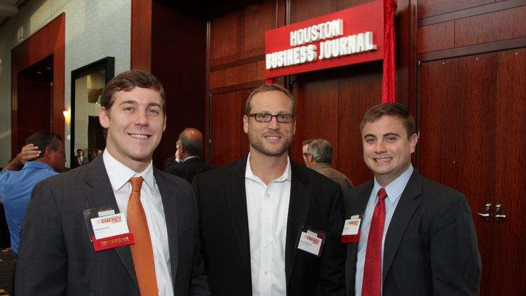 More than 400 people attended HBJ's Conversation with Energy Leaders. Pictured from left: Robbie Reynolds, Emmanuel McKenzie, Greg Manis. Click here to see the entire photo gallery.