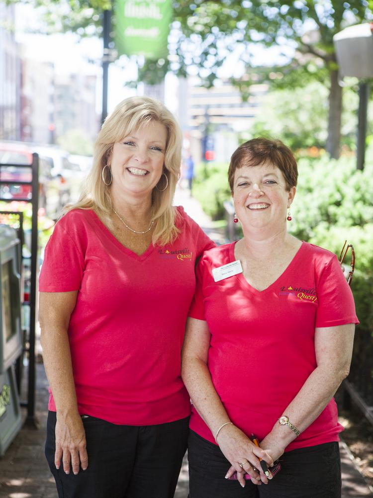 Louisville Quest business partners Theresa Hommerich, left, and Mary Henry.