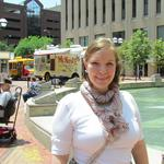 <strong>Val</strong> <strong>Beerbower</strong> discusses the Downtown Dayton Plan update survey