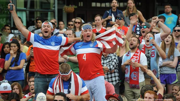 US fans cheer for Team USA during its World Cup match with Ghana June 16.