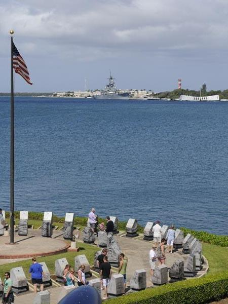 The USS Arizona in Hawaii, was No. 5 on a TripAdvisor list of the top U.S. landmarks. The memorial in Pearl Harbor, part of the World War II Valor in the Pacific National Monument, hosted more than 1.75 million visitors in 2012.