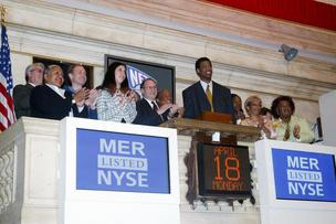 Jason Collins, then a member of the Nets, rings the closing bell at the NYSE in 2005.
