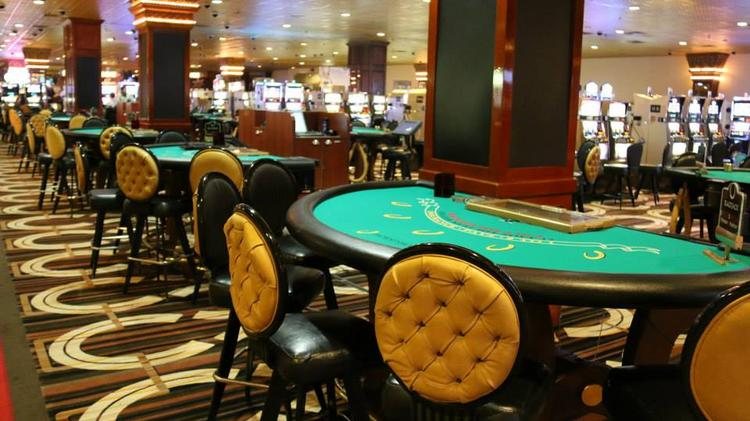 A portion of the new casino floor at Horseshoe Casino