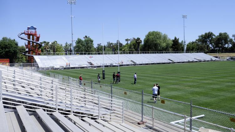 With a search on for an appropriate location starting for a possible stadium that would serve as home to a Major League Soccer team, officials with two of the possible sites said they're ready to consider it. One possible choice: the existing Bonney Field, which could be expanded at Cal Expo.