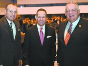 Lt. Gov. Casey Cagle, from left, Chris Clark and Georgia House Speaker David Ralston at the Georgia Chamber's 2014 annual meeting dinner on Jan. 14.