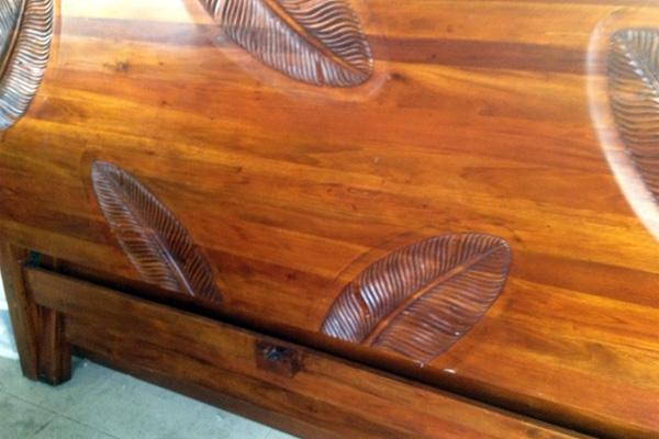 This koa bed that belonged to the late Hawaii entertainer Don Ho will be auctioned next week at Estate Liquidators Hawaii.
