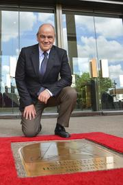 "Houston Symphony and the city of Houston presented a gold star for Hans Graf on the ""Walk of Fame"" at Jones Hall."