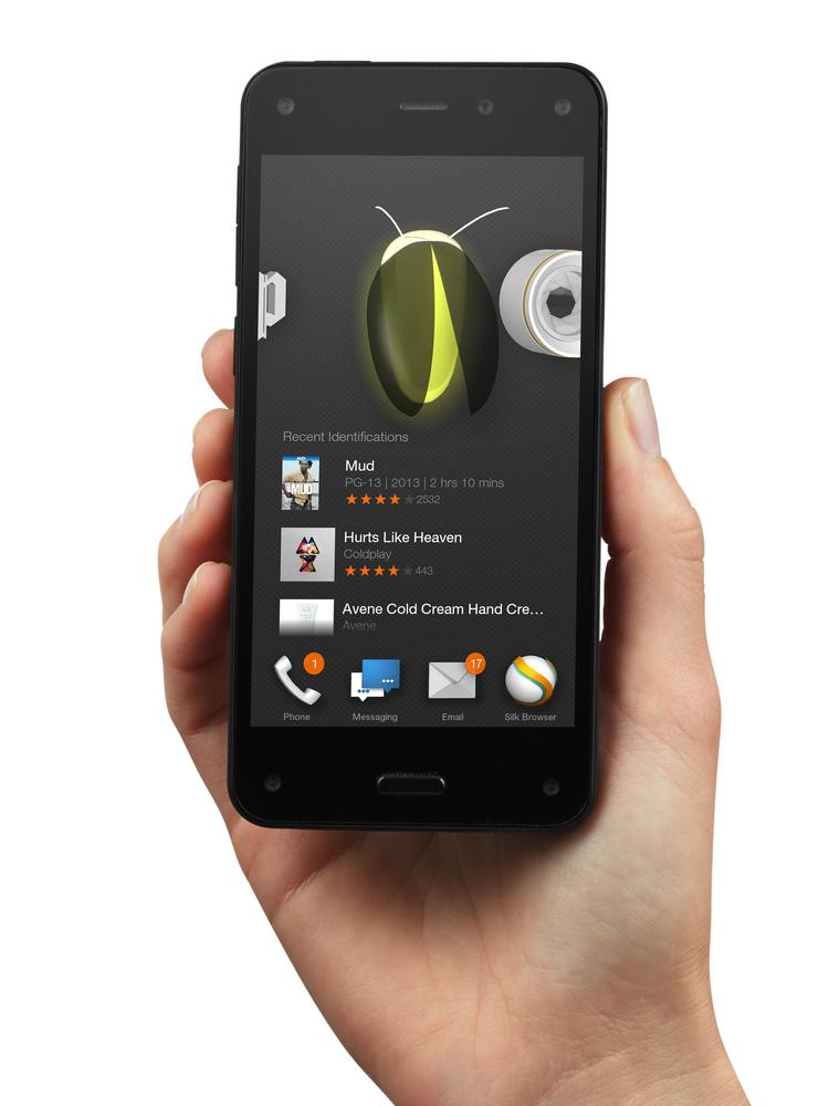 Amazon announced its first smartphone today, complete with a 3D effect and a button that lets you identify anything and then buy it.