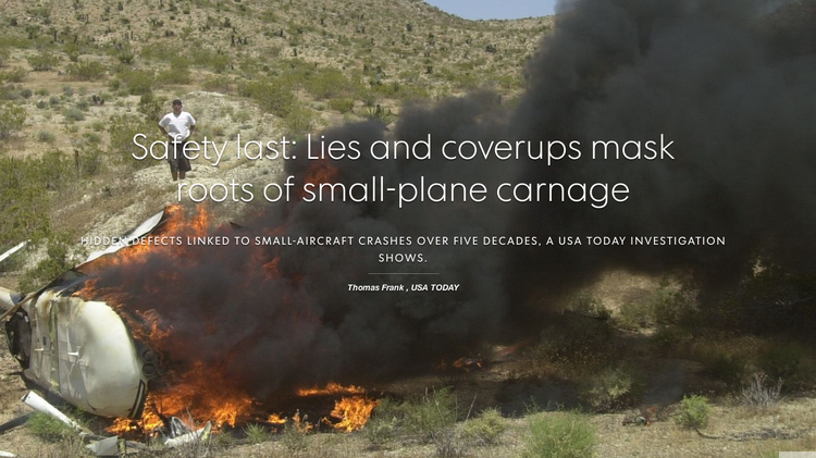 "A new series from USA Today, ""Unfit for Flight,"" blasts general aviation safety."