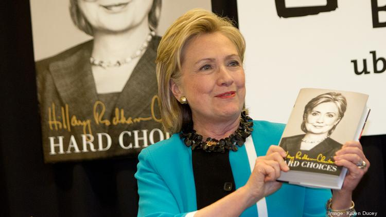 Hillary Clinton's book tour is coming to Ohio.