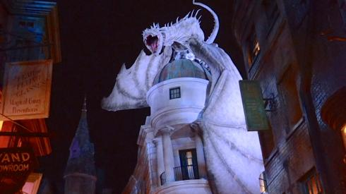 A special preview of Diagon Alley showcased its immersive detail during the perfect time: At night.