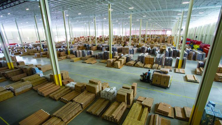 The Ashley Furniture Distribution Center In Davie County