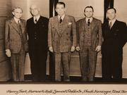 James  K. Dobbs (middle) with Henry Ford, Horace Huff, Chuck Kensinger and Edsel Ford. One could argue Dobbs was instrumental in helping Ford build his auto empire.