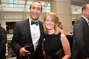 Mark Ingrao of the Greater Reston Chamber of Commerce with Cate Fulkerson of Reston Association.