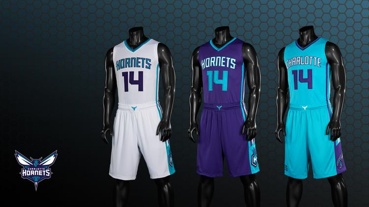 When the NBA Charlotte Hornets take the floor this fall for the first time since 2002, the team will wear these new uniforms.