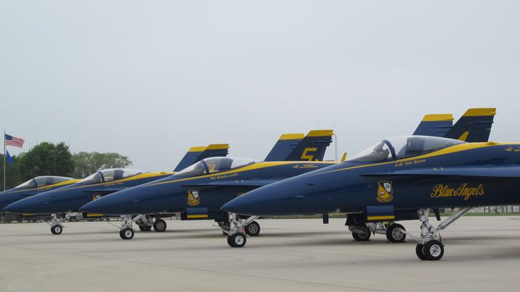 Heavy fog kept the U.S. Navy Blue Angels grounded during this weekend's Milwaukee Air & Water Show.