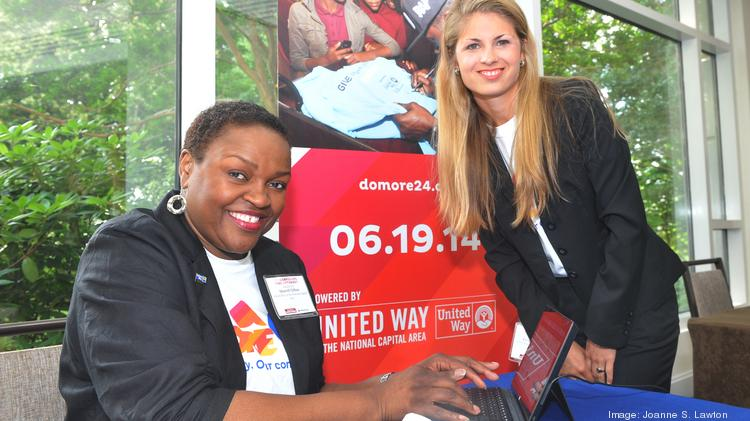 The Washington Business Journal held its Corporate Philanthropy Awards on the same day as the United Way of the National Capital Area held its DoMore24 fundraiser, an online fundraising event for 568 local nonprofits. Here Sharell Clifton, left, and Elizabeth Mizell of the United Way gets ready for a day of fundraising.