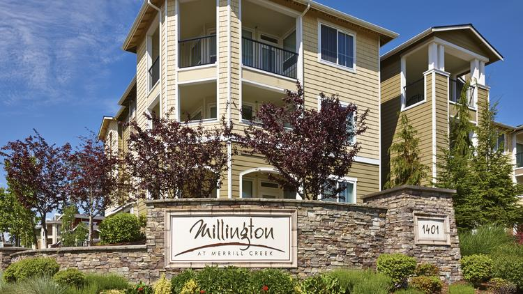 Security Properties paid $63.5 million for an Everett apartment complex called the Millington at Merrill Creek. The price is 15 percent less than what the property sold for in 2007.