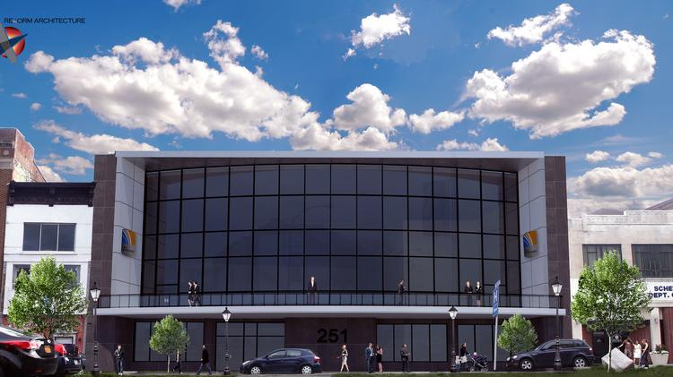 A rendering of what will be the NYBizLab LLC technology business accelerator will be located at 251 State St., in Schenectady, New York.