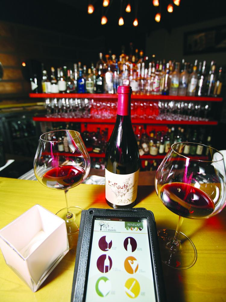 Sidebern's utilizes technology for its wine list.