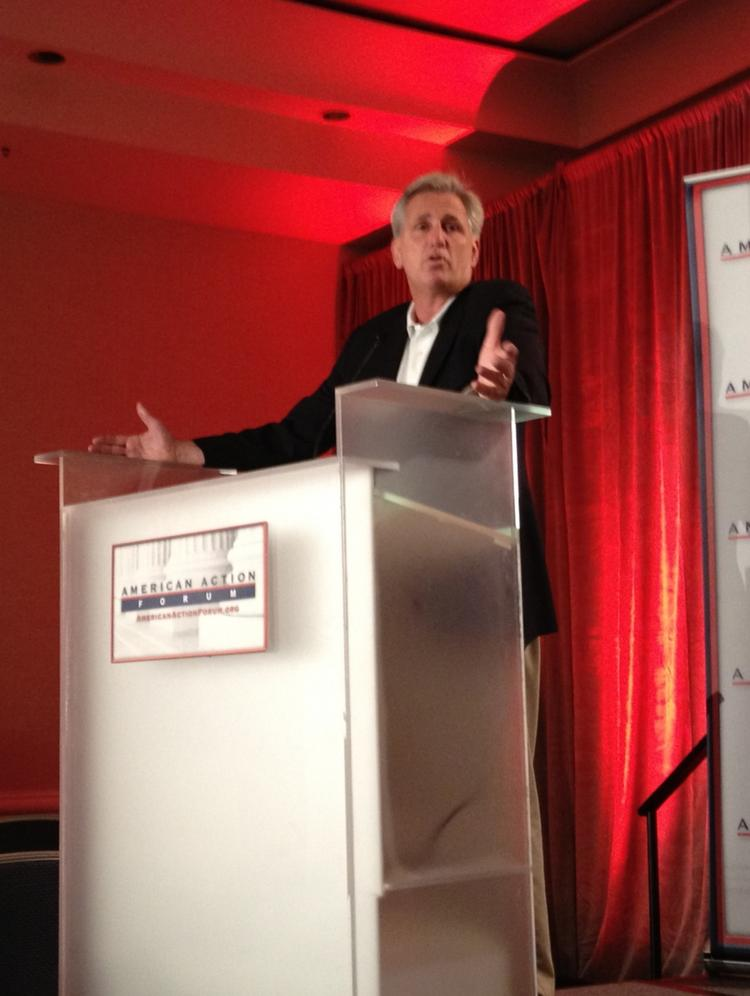 Rep. Kevin McCarthy, R-Calif., spoke candidly about his youthful business ventures at an American Action Forum event in Tampa during the 2012 Republican National Convention.