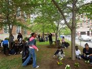 On April 19, the Fairmont in Georgetown and the World Wildlife Fund helped students spruce up the Francis Stevens Educational Campus.