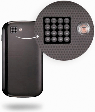 The Pelican Imaging smartphone camera, made up of 16 individual cameras that take photos at different depths. The technology makes it easy for people to clean up out-of-focus mobile photos.