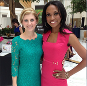 Angelique Rewers, CEO of The Corporate Agent, left, organized Inside Edge, a national conference for small business owners who want to land corporate contracts. More than 325 entrepreneurs attended the conference at the Gaylord National. Shown here with Rewers is conference speaker Marshawn Evans, CEO of ME Unlimited.