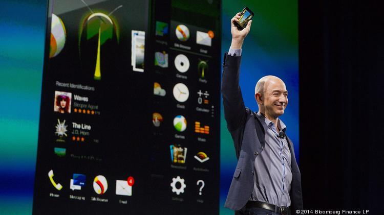 Amazon CEO Jeff Bezos introduced the Fire Phone during an event at Fremont Studios in Seattle on Wednesday.