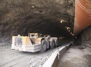 The tunnel work for the East End bridge is about 60 percent complete, with about 1,200 feet of the southbound tunnel bored, and about 950 feet dug out on the northbound side.