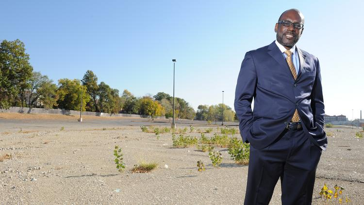 Pastor KZ Smith of Corinthian Baptist Church said his congregation intends to build a new church next to Catholic Health Partners' proposed new headquarters.
