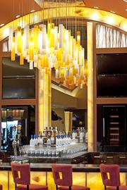 Dramatic lighting features such as this one are among the design elements in The Mansion.