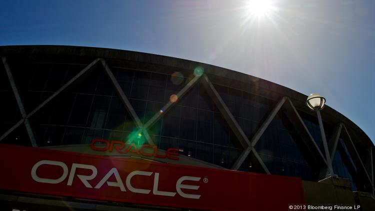 Oracle Corp.'s is based in Redwood City, Calif. Photographer: David Paul Morris/Bloomberg