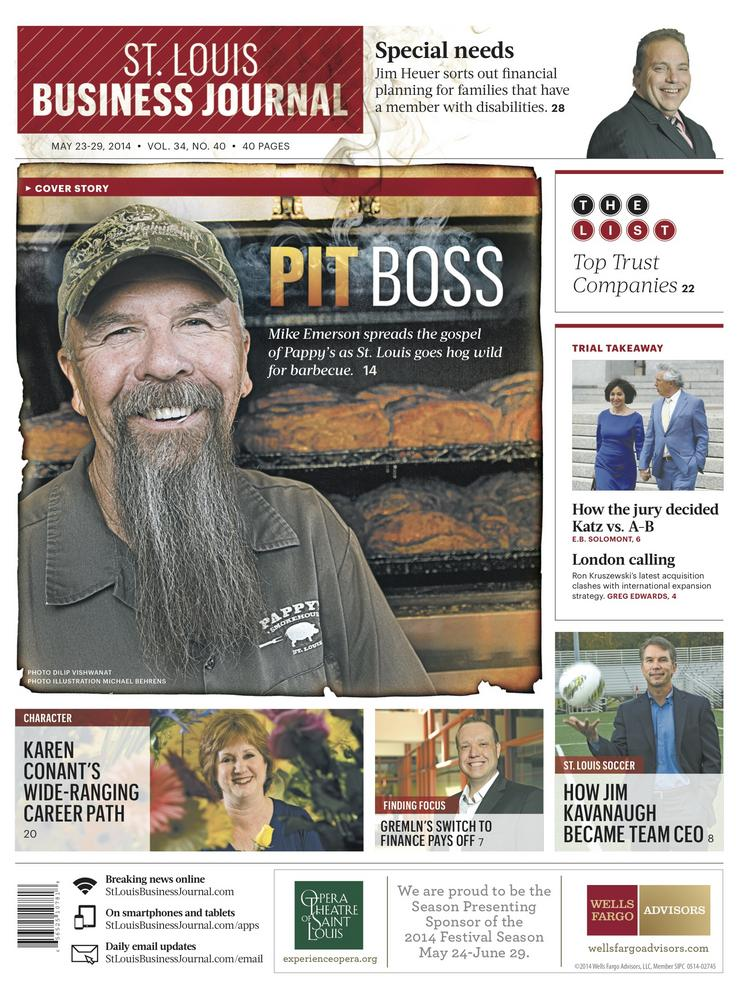 The front cover of St. Louis Business Journal's May 23 edition, which has now been unlocked for your perusal.