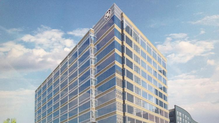 Here's a rendering of GE's planned global operations center at the Banks.