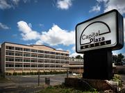 The former Capital Plaza Hotel at the intersection of Capital Boulevard and Highwoods Boulevard in north Raleigh is going back on the market in search for a new owner and new purpose.
