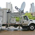 AT&T shows off some of its $600M fleet of disaster recovery vehicles at Dallas City Hall (Video)