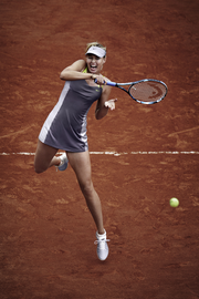 Maria Sharapova's French Open outfit in action.