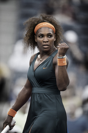 Serena Williams' French Open outfit in action.