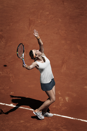Victoria Azarenka's French Open outfit in action.
