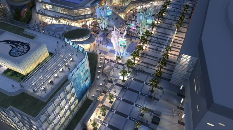 The complex will create hundreds of new jobs via retailers, restaurant workers and hotel workers. It also will have the potential to draw more customer traffic to other business in the downtown Orlando core.