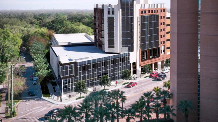 A rendering of the planned nine-story Hotel ORMC in downtown Orlando.