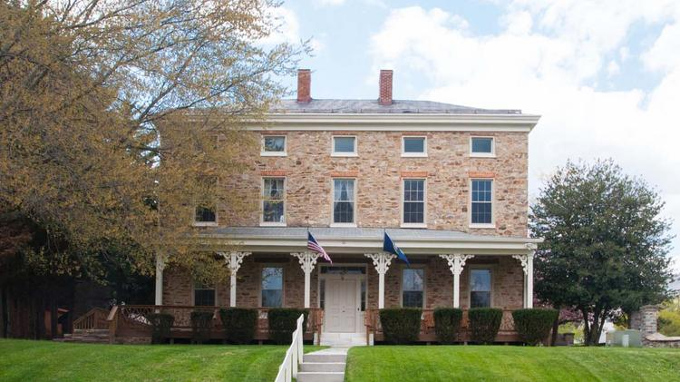The Trentham Mansion at 135 Village Queen Drive in Owings Mills will be auctioned off on June 26. The opening bid will start at $750,000.