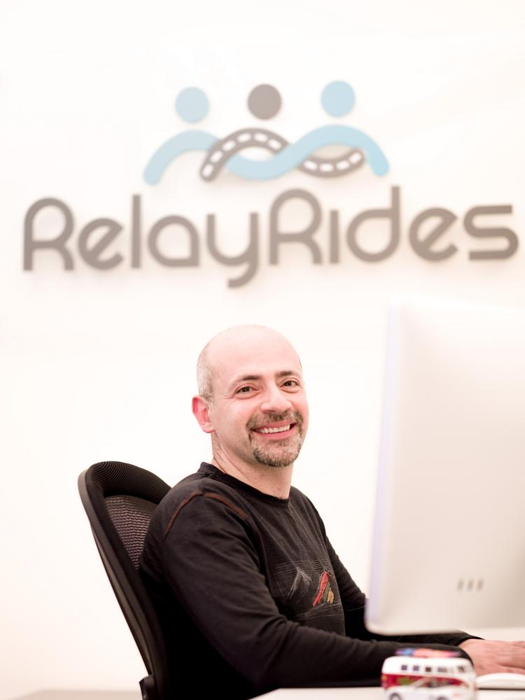 RelayRides CEO Andre Haddad. His company has moved toward longer term renting of privately-owned vehicles, discontinuing hourly rentals altogether. The company is in 49 states and just raised $25 million.